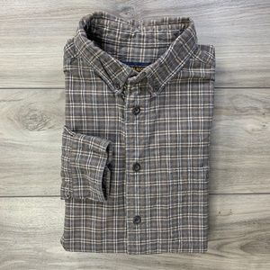 Woolrich Plaid Check Long Sleeve Button Down Shirt